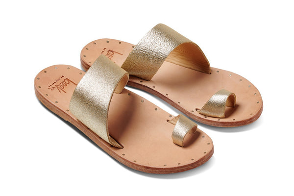 FINCH sandal - Platinum/Natural - angle view