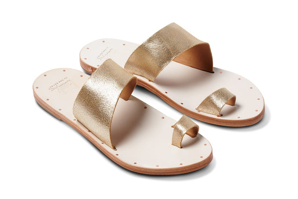featured image FINCH sandal - Platinum/White Wash - angle view noscript image