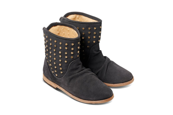featured image JUNCO boot - Charcoal Grey Suede - angle view noscript image