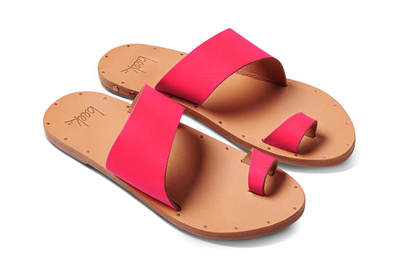 featured image FINCH sandal - Hot Pink/Natural - angle view noscript image