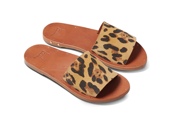 featured image LOVEBIRD sandal - Leopard/Tan - angle view noscript image