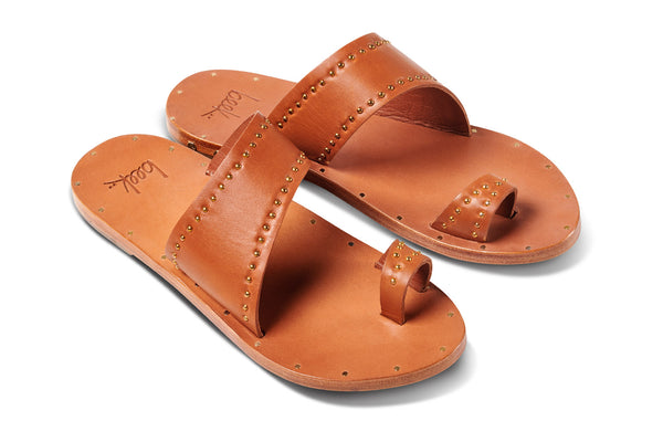featured image FINCH STUD sandal - Tan/Tan - angle shot noscript image