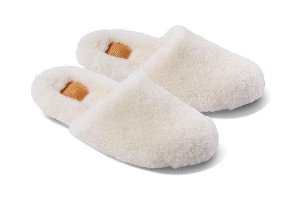 featured image BRRR-BIRD shearling slipper - Ecru - angle shot noscript image