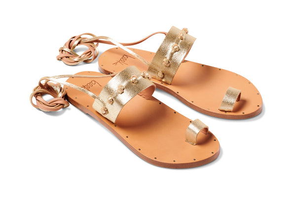 featured image HERON sandal - Platinum/Honey - angle view noscript image