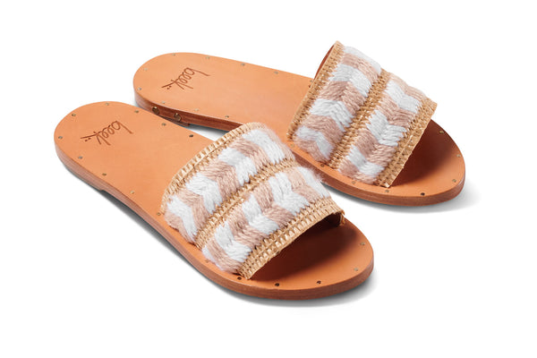 featured image PARAKEET sandal - White/Honey - angle view noscript image