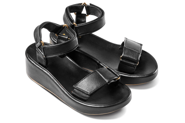 featured image ROO Flatform Sandal - Black - angle view noscript image