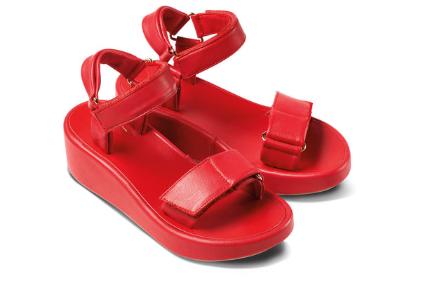 featured image ROO flatform sandal - Red - angle view noscript image