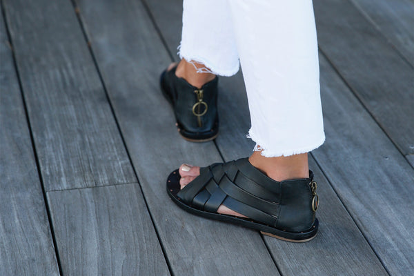 secondary image TURACO sandal - Black/Black - on model shot 1 noscript image