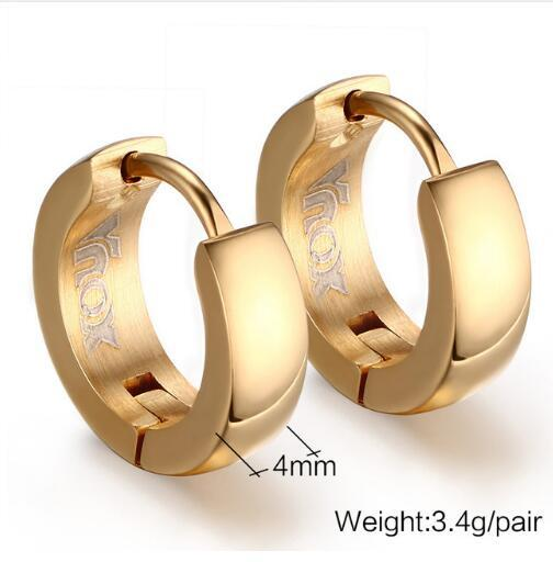 Hoop Steel Earrings for Men