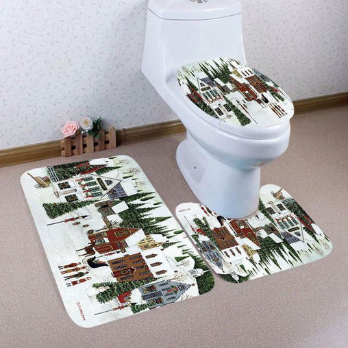 Christmas Toilet Seat Cover for Bathroom