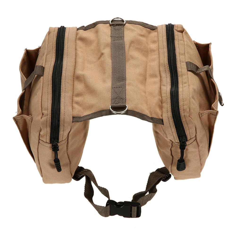 Cotton Canvas Saddle Bag for Dogs - The Santa Gifts
