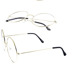 Black Round Clear Frame Glasses