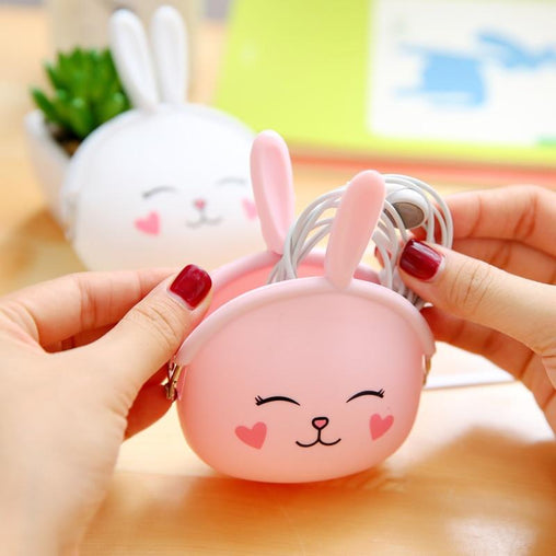 Cute Mini Zipper Headphone Case