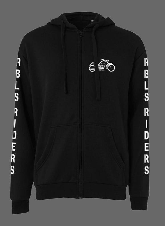 Riders branch personalised zipped hooded sweatshirt