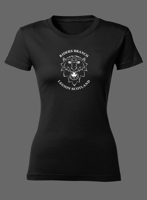Black Lion's Head Ladies Fitted T-Shirt