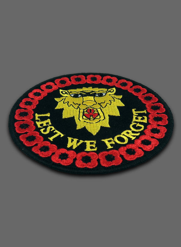 Lions Head Lest We Forget Badge