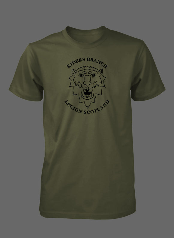Olive Lion's Head T-Shirt