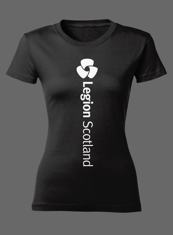 Black Rose Ladies Fitted T-Shirt