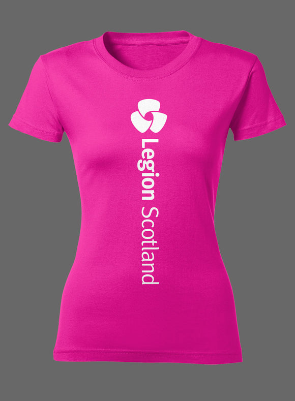 Pink Rose Ladies Fitted T-Shirt