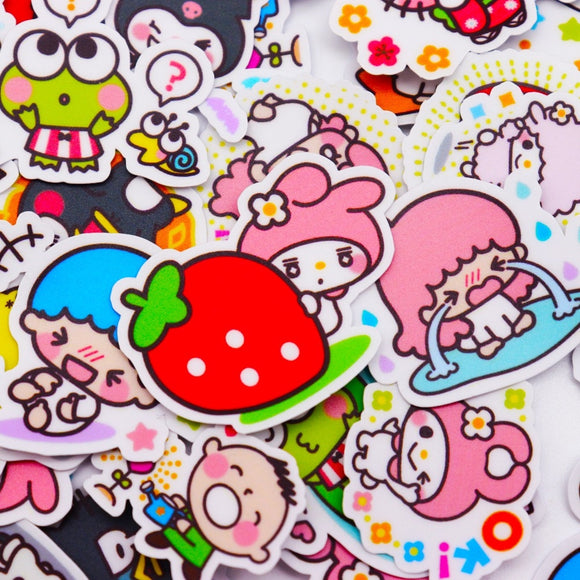 40pcs love girl stickers