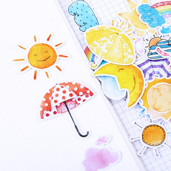 23pcs Cute Weather symbol