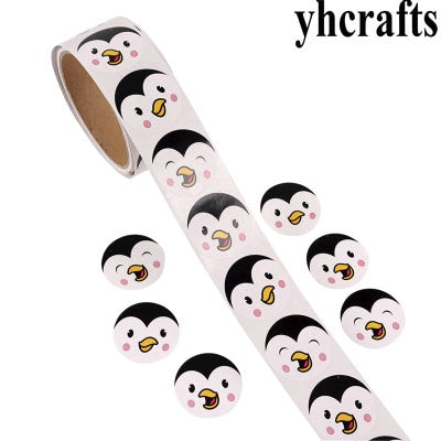 1 Roll(100PCS)/LOT penguin