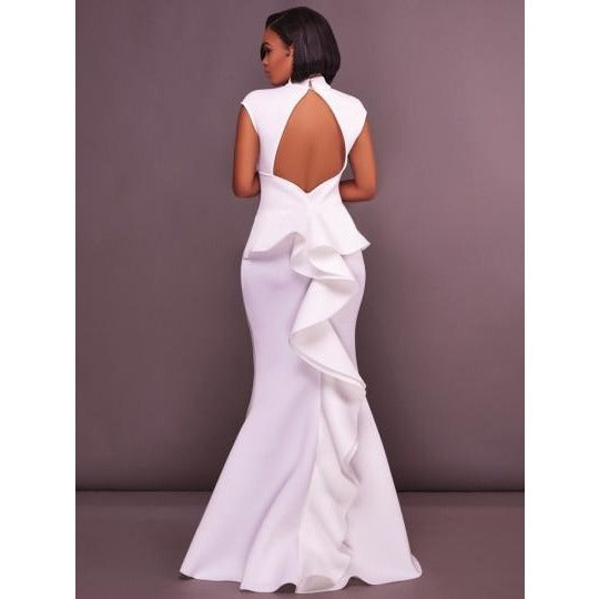 Open Back Falbala Dress