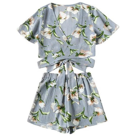 Gianella Floral Wrap Two Piece