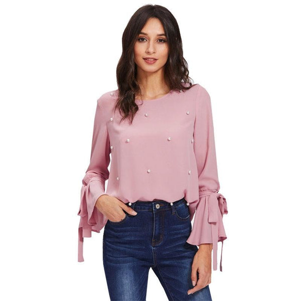 Dana Pearl Beaded Blouse