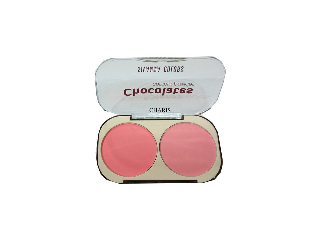 Sivanna colors Chocolate Contour pink powder Blusher Pink and Light Pink