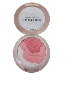 Sivanna Colors Mat Fluer Blusher (Flower Shaped Multi Colored Blusher With Applicator And Mirror)