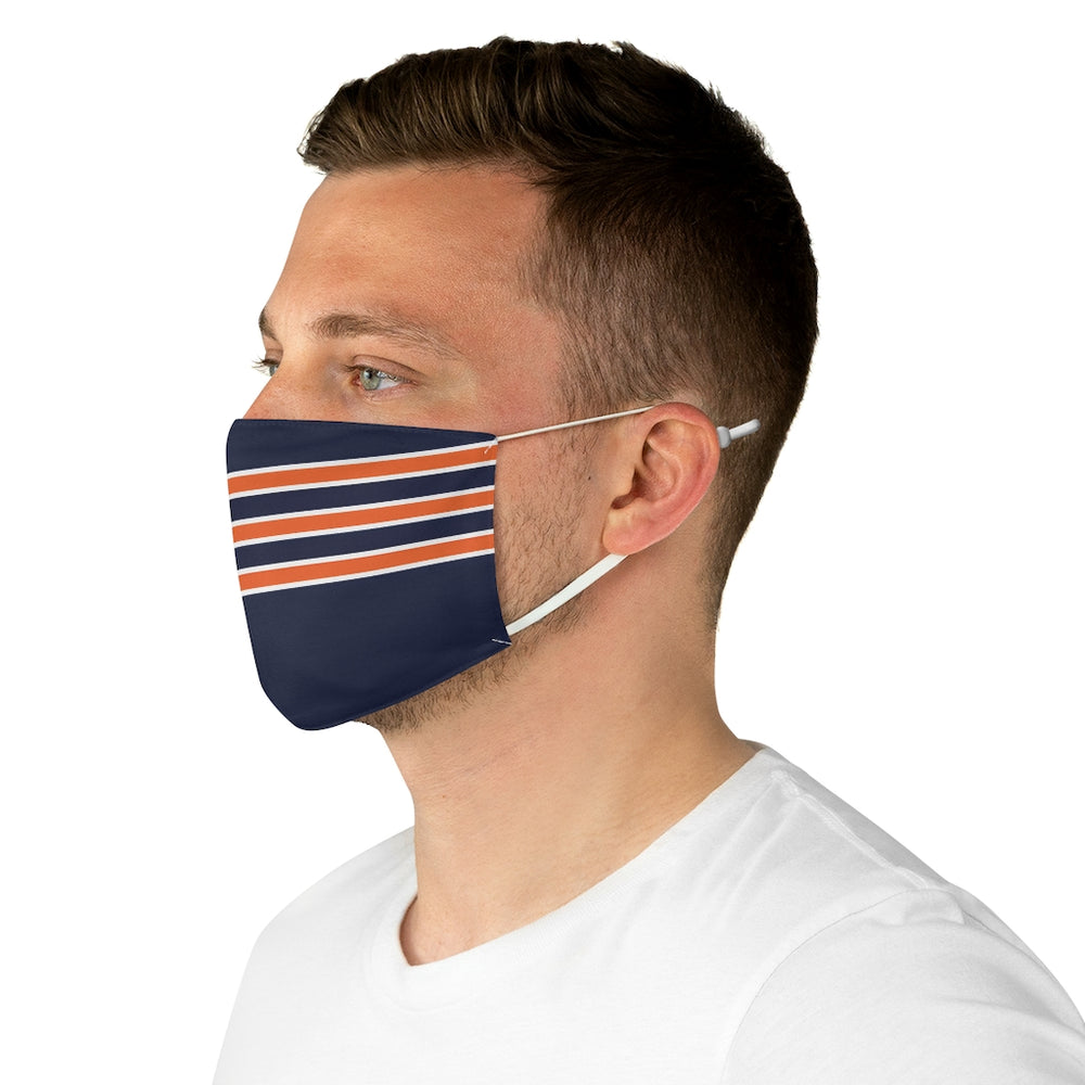 Chicago Football Stripe Face Mask