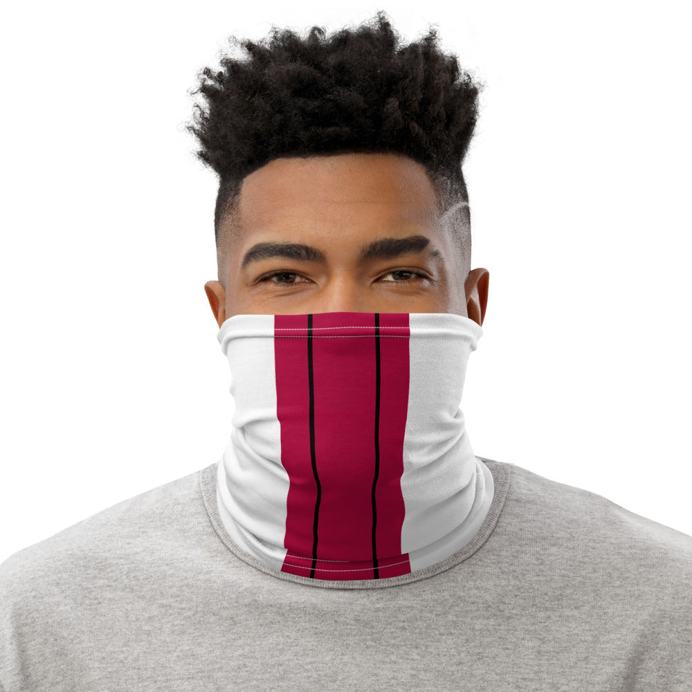 Arizona Cardinals Style Neck Gaiter as Face Mask on Man