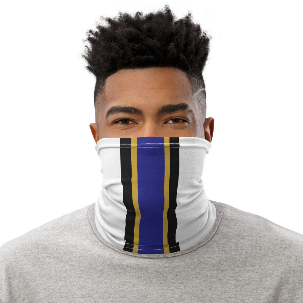 Load image into Gallery viewer, Baltimore Ravens Style Neck Gaiter as Face Mask on Man