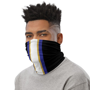 Load image into Gallery viewer, Baltimore Ravens Style Neck Gaiter as Face Mask on Man Left