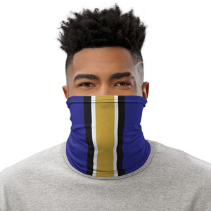 Baltimore Ravens Style Neck Gaiter as Face Mask on Man