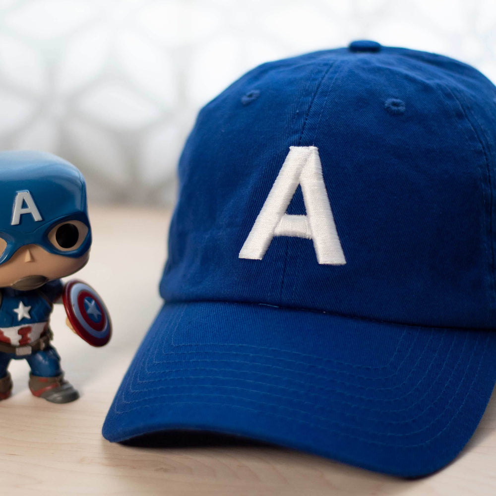 Captain America Hat - Classic Blue Helmet with Funko Pop