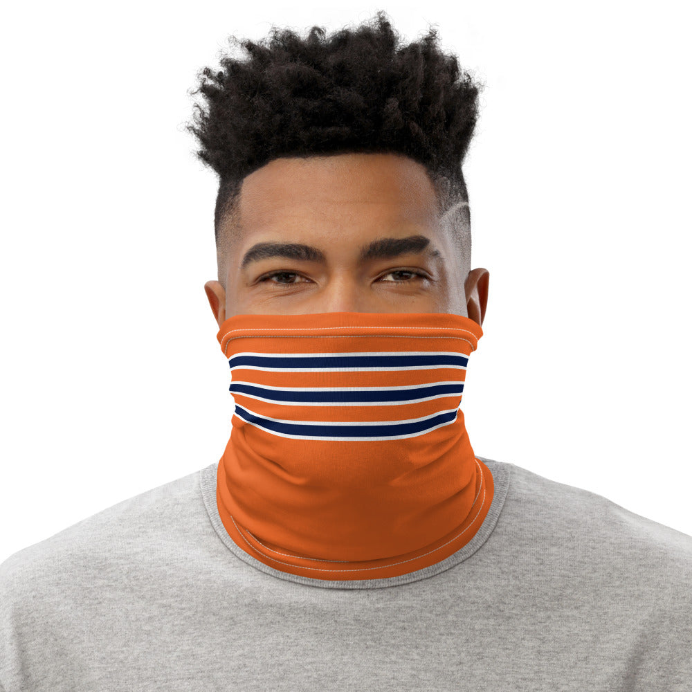 Chicago Bears Style Neck Gaiter as Face Mask on Man