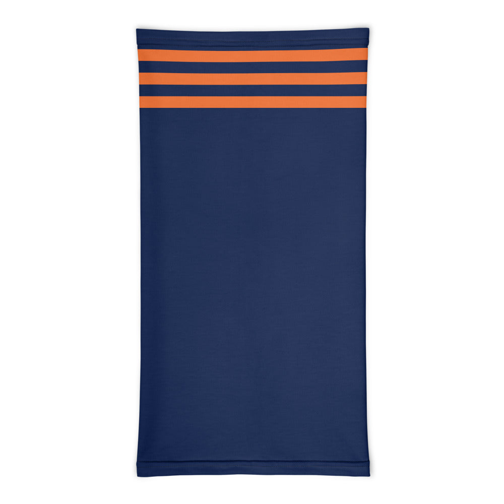 Chicago Bears Style Neck Gaiter Tube Flat Front