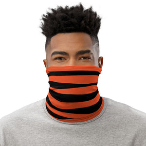 Cincinnati Bengals Style Neck Gaiter as Face Mask on Man