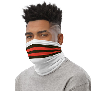 Load image into Gallery viewer, Cleveland Browns Style Neck Gaiter as Face Mask on Man Left
