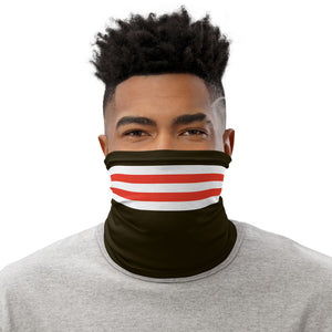 Load image into Gallery viewer, Cleveland Browns Style Neck Gaiter as Face Mask on Man