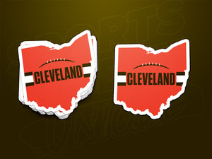 Cleveland Browns Style Sticker Stacked