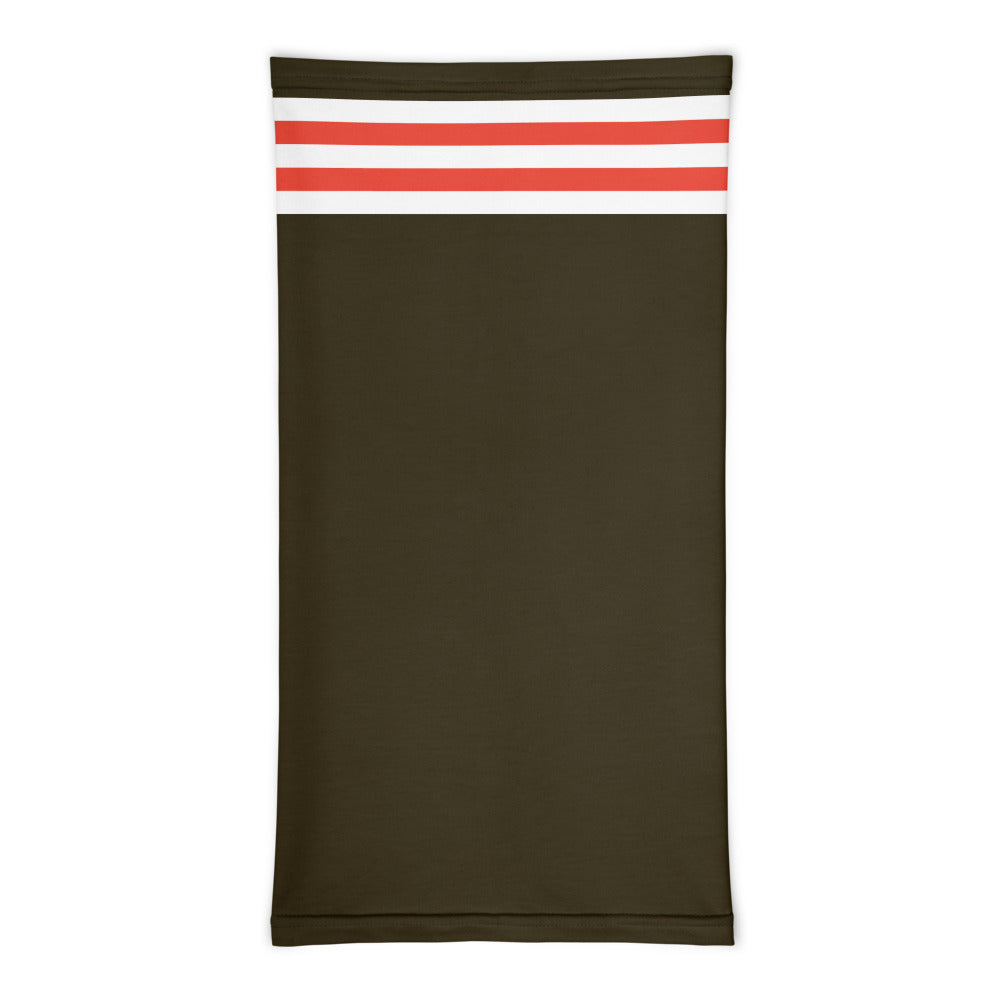 Cleveland Browns Style Neck Gaiter Tube Flat Front