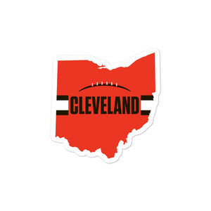 Cleveland Browns Style Sticker 3 inches