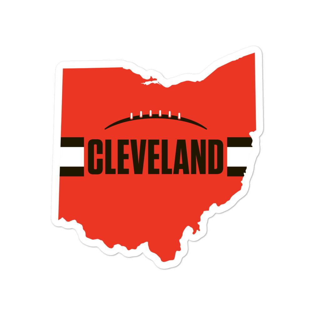 Cleveland Browns Style Sticker 4 inches