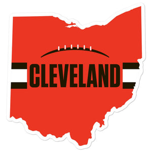 Cleveland Browns Style Sticker 5 inches