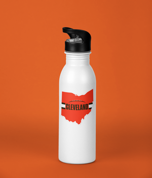 Cleveland Browns Style Sticker on Aluminum Bottle