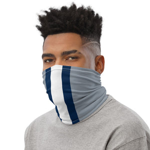 Dallas Cowboys Style Neck Gaiter Tube as Face Mask on Man Left