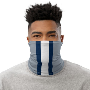 Dallas Cowboys Style Neck Gaiter Tube as Face Mask on Man